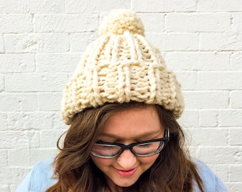 815ff2a0882 Chloe Kim Olympics Team USA inspired hat — super chunky knit beanie with pom  pom