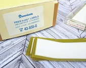 Dennison Gold Border Seals Press-a-ply Labels Stickers - Set of 25