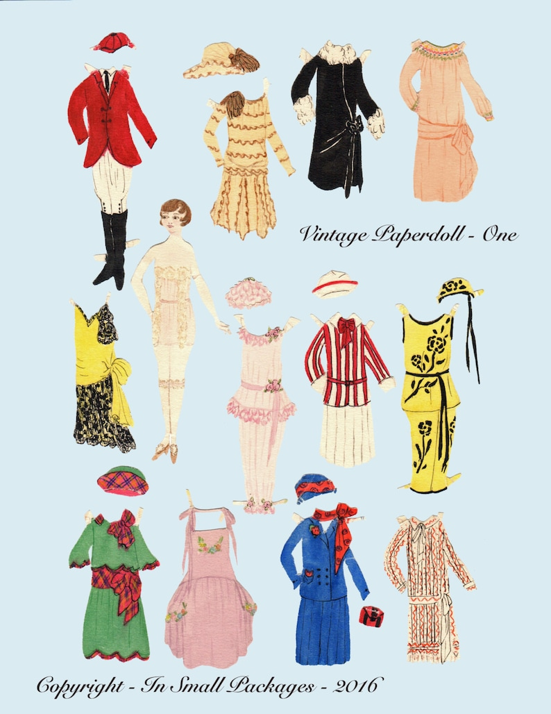 picture regarding Paper Doll Printable titled Basic electronic Paperdoll, Printable Paper Doll, Roaring 20s paper doll, flapper paper doll, jpeg layout, 1920s doll, classic design