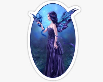 Iridescent Dragon & Fairy Sticker