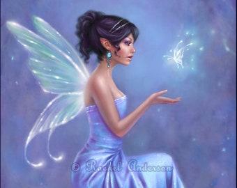 Fairy Butterfly Art Print Opalite