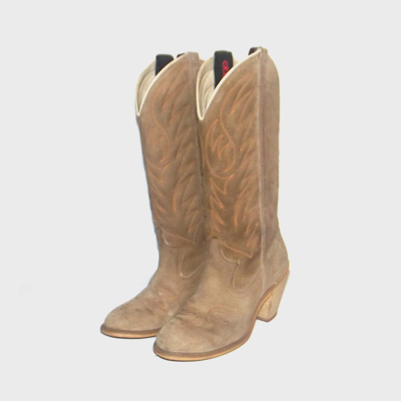 1980er Schuhe / vintage 80er Cowboystiefel / Leder / 5 / Giddy | Etsy