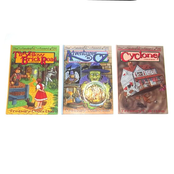 1990s Wizard Of Oz Books 90s Children S Books Wizard Etsy