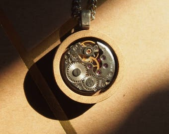 Druidcraft - Wood and Watch pendant