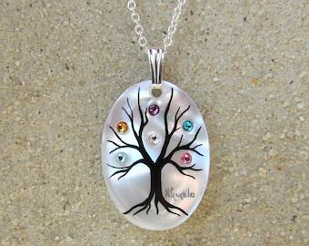 """Family Tree Neckace """"Small/Medium"""" (6 stone maximum)"""