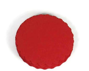 Three Inch Scalloped Circles Die Cut Paper Circles  3 inch Circles in  Red