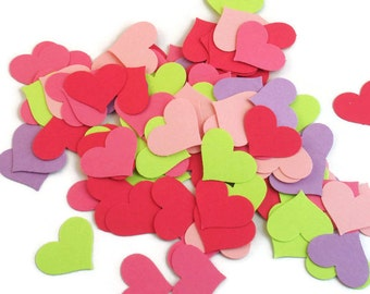 Funfetti Paper Confetti  Die Cut  Hearts in  Butterfly Wings Quantity 250