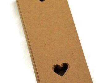 Kraft Gift  Tags in  Love Set of 50