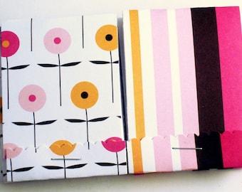 Matchbook Notepads Matchbok Favors in Pretty in Pink Set of 10