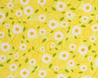 Riley Blake Mae Flowers Floral Blue Fabric FQ Half Metre or More 100/% Cotton