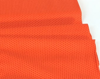 Pindot Tangerine Color from Spot On Collection  ~  Robert Kaufman Collection ~ 100% Quilting Cotton Fabric