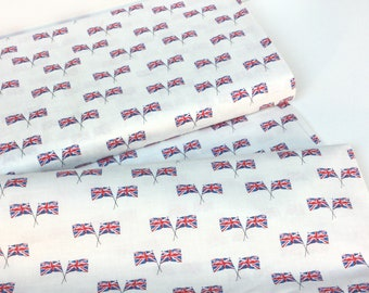 Union Jacks Ivory Fabric ~ London Collection by Whistler Studios from Windham Fabrics, 100% Cotton Quilting Fabric