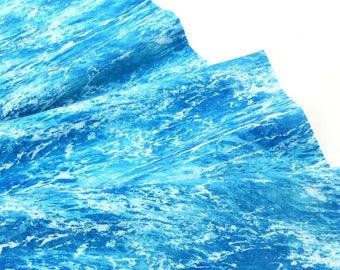 Clear Ocean Water by the Beach Blue Fabric ~ Beach Day Collection for Timeless Treasures, 100% Quilting Cotton Fabric