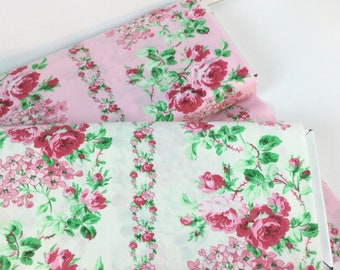 Sweet Vine Coconat or Pink Color from Sugar Bloom Collection ~ Verna Mosquera for Free Spirit Fabrics Collection Cotton