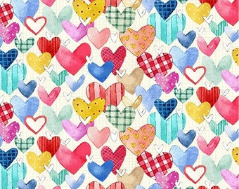 NEW*** Heart and Soul Multi Fabric ~ Love You! Gnome-atter What Collection from Michael Miller, 100% Cotton Quilting Fabric
