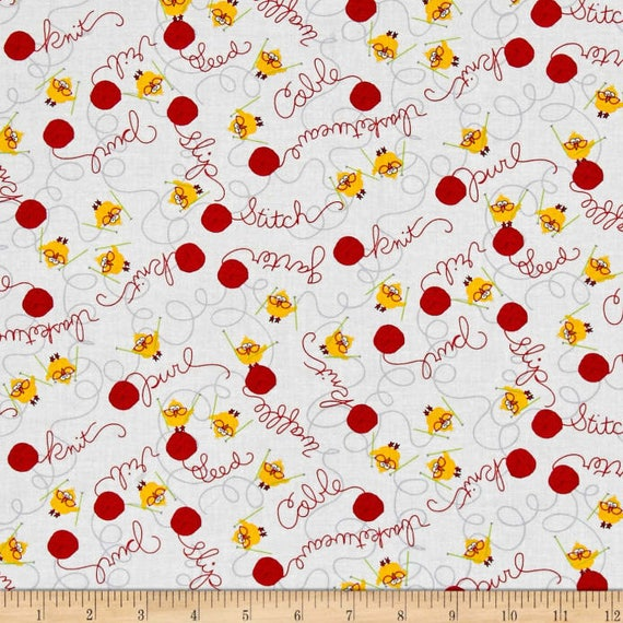 Fabric Chickens White with Chicks on Orange Cotton by the 1//4 yard