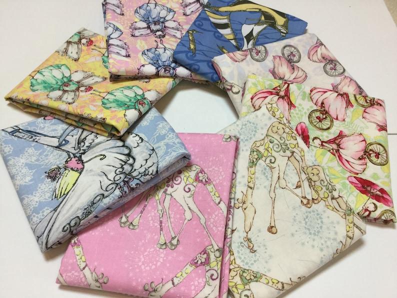 Unicycle Play Giraffe Fun 8 FQ  Riddles /& Rhymes Bundle ~ Fairy Magic Sing Me a Song ~ Tina Givens,Cotton Quilt Fabric Sky Sail