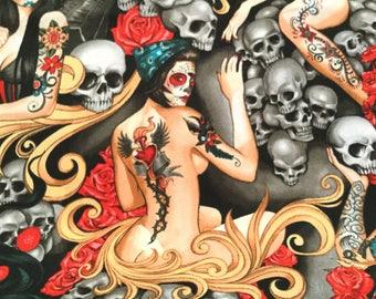 Las Elegantes Bright Smoke Color  ~ Nicole's Prints Collection  for Alexander Henry, 100% Quilting Cotton