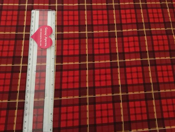 Nutcracker Plaid Cranberry Red Michael Miller Fabric FQ More 100/%Cotton