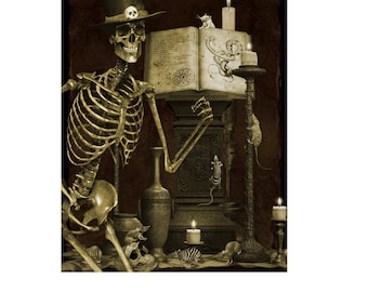 """SALE ~TALES from the Crypt, by 34""""by 43"""" Panel ~ Art Licensing David Textile Fabrics, 100% Quilting Cotton"""