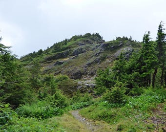 beautiful ascent - digital photography download - instant download, mountaintop, blue sky, alaska, wilderness