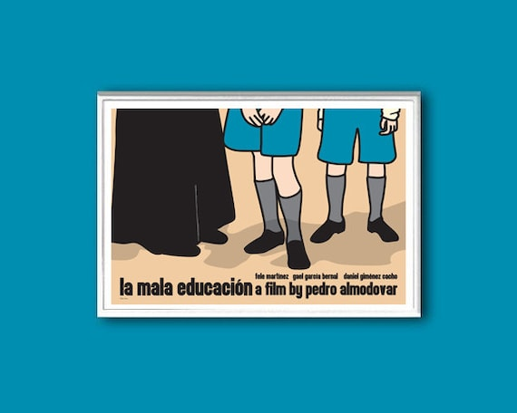 La mala educacion, or Bad Education, movie poster in various sizes