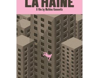 Movie poster La Haine retro print in various sizes