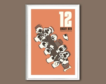 Movie poster 12 Angry Men retro print in various sizes