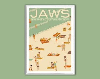 Movie poster Jaws retro print in various sizes