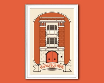 Movie poster Ghostbusters retro print in various sizes