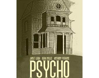 Film poster Psycho retro print in various sizes