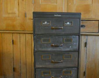 Vintage Filing Cabinet U2022 Shaw Walker Filing Cabinet U2022 Metal 5 Drawer U2022  Industrial Furniture