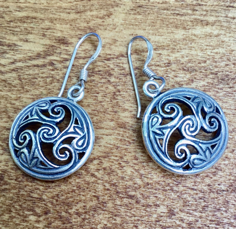 47b51baac Spiral Earrings Silver Earrings Swirl Earrings Celtic | Etsy