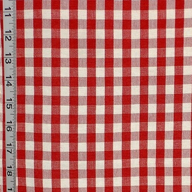 "1 full metre Pink /& White 1//4/"" Gingham check fabric//material"