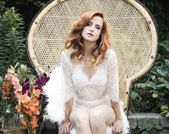 Sheer lace romper, bridal boudoir, white romper, eyelash lace, bridal lingerie, festival outfit, sheer bodysuit, boho wedding lingerie