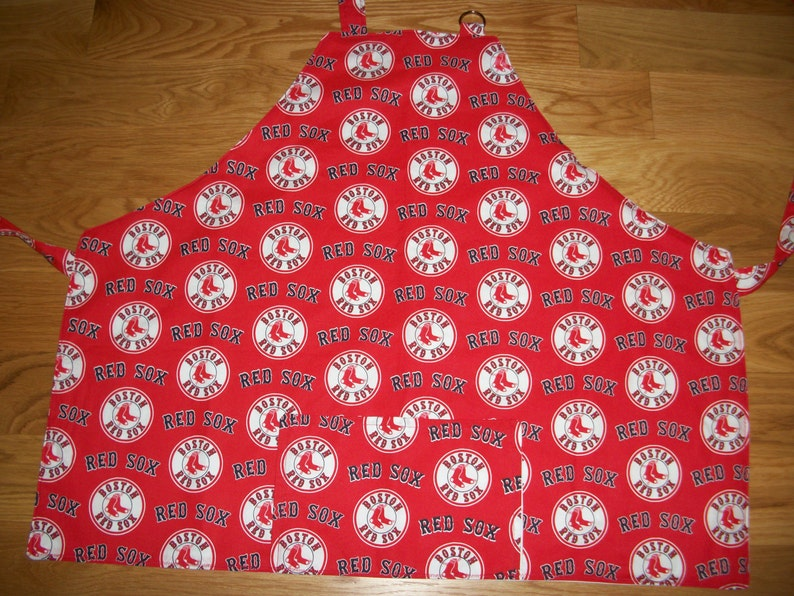 Barbeque Apron in Sports Patterns Baseball Atlanta Braves , Boston Red Sox Red or Navy, or Oakland Athletics