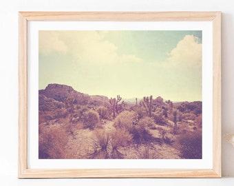 Desert Print, Joshua Tree Art, Landscape Photography, Palm Springs Poster, Southwestern Decor, Boho, Wedding Gift