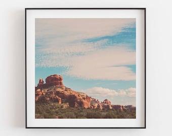 Sedona Photography, Arizona Desert Print, Boho Decor, Landscape Photo, Southwest Nursery Wall Art, Red Rocks