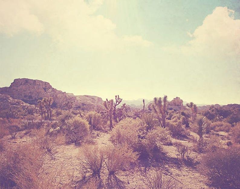 Desert Print Joshua Tree Art Landscape Photography Palm image 0