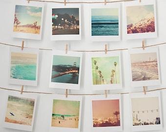 dorm decor, mini print set, small wall gallery photos, Los Angeles photograph, California wall art, beach decor, San Francisco, bestsellers