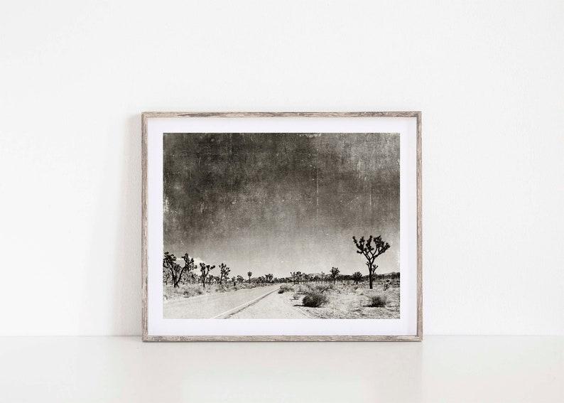 For Him California Print Black and White Joshua Tree Photo Boho Decor Desert Wall Art Palm Springs