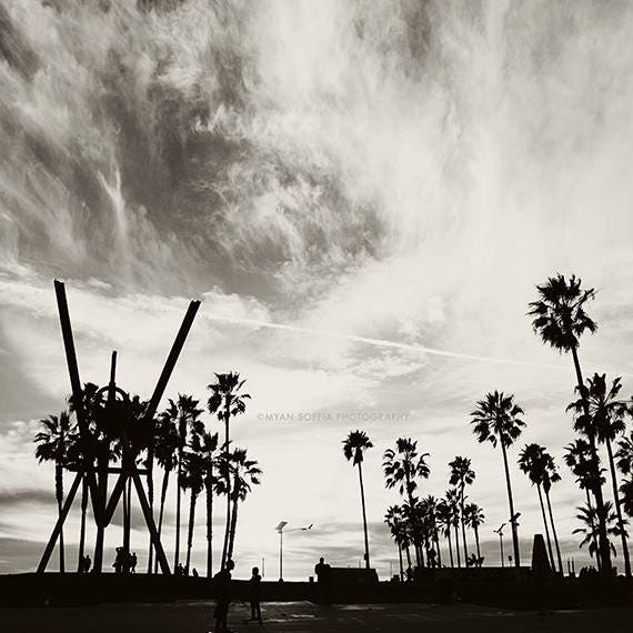 Venice Beach Black And White Photography