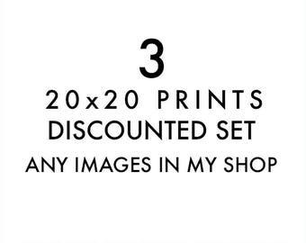 photography print set, large wall art set, choose 3 20x20 prints, Los Angeles photos, California prints, home decor, San Francisco art