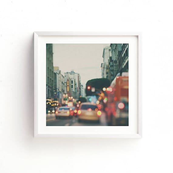 Framed Print Los Angeles Wall Art Downtown La Photo Urban Etsy