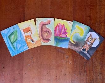 French Waldorf Alphabet Cards