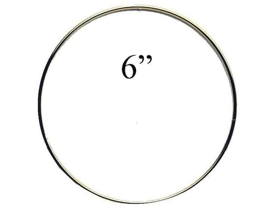 """6/"""" Macrame Metal Ring Hoop Brass SET OF 6 Gold Toned"""