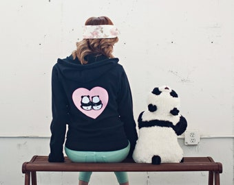 Panda Bums in Love - Zipper Hoodie