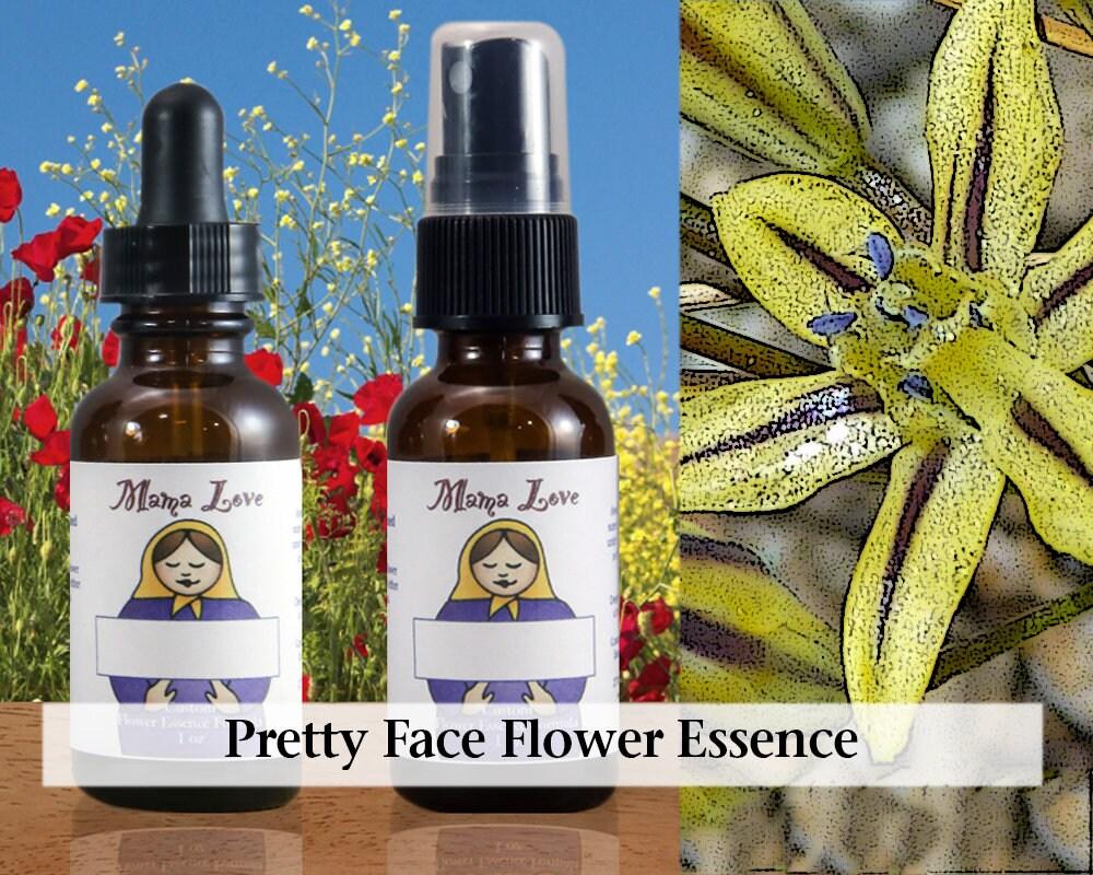Pretty Face Flower Essence 1 Oz Dropper Or Spray For Etsy