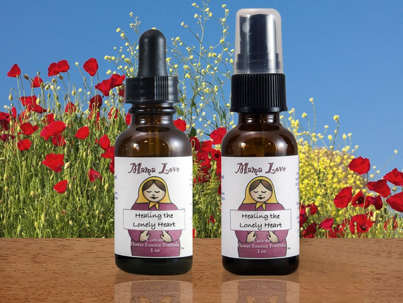 Healing the Lonely Heart Flower Essence Dropper Bottles or image 0