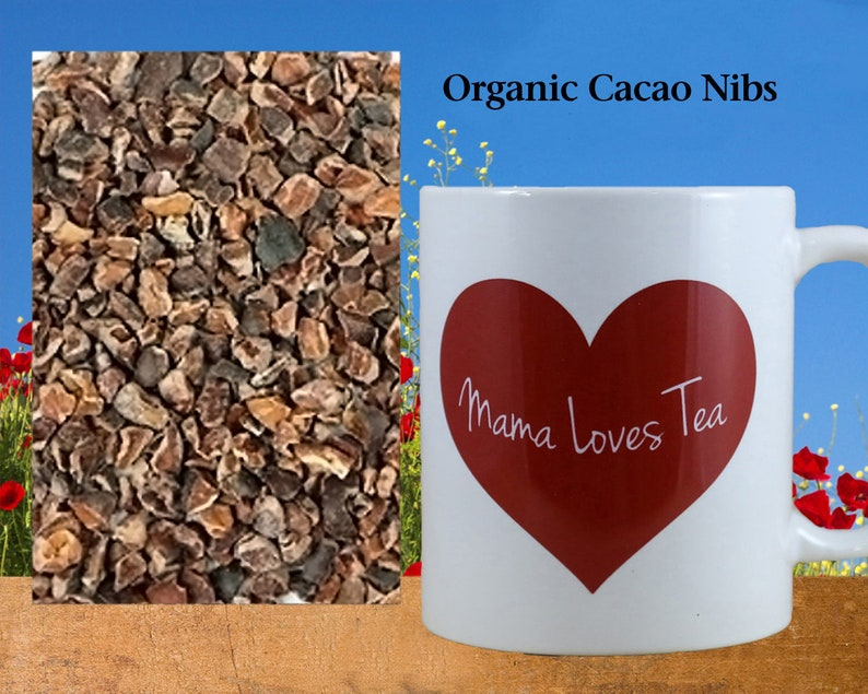 Organic Cacao Nibs Chocolate Drink Herb Tea Herbal image 0